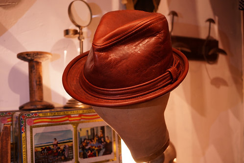 Vintage Leather Fedora