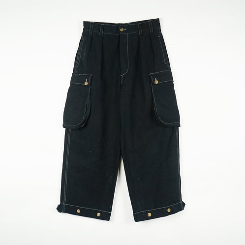 Luddite Original Army Fatigue Pants Black ( High Waist Loose Cut)