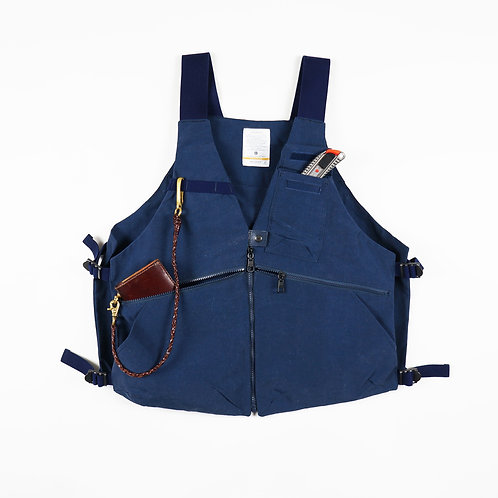 Pre-order AS2OV - SHRINK NYLON CAMP VEST 3 (NAVY)