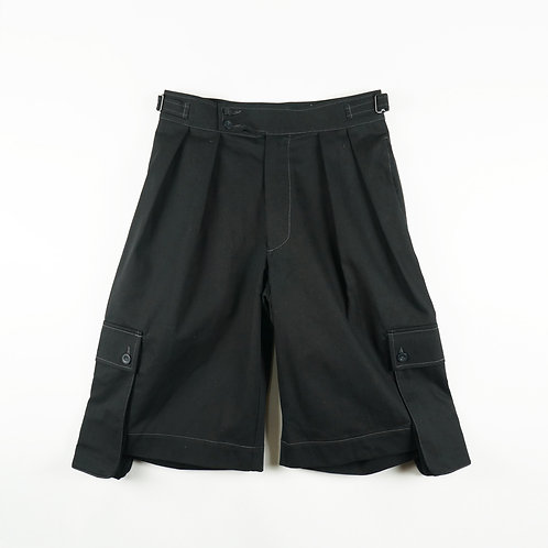 Luddite Orginal Cotton (Side-Pocket) Gurkha Shorts - Black
