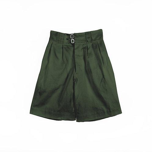 Luddite Original Cotton High Waist Gurkha Pants - Green