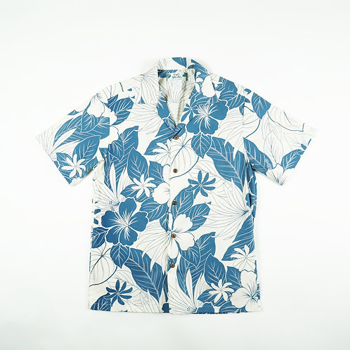 Two Palms Aloha Shirt - Lanai Blue
