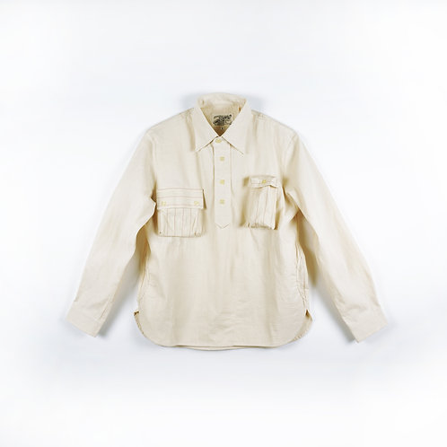 "Luddite ""Favictory"" Natural Cotton Worker Shirt"