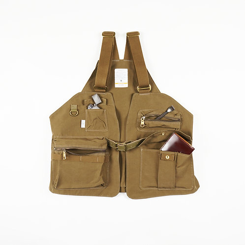 AS2OV - SHRINK NYLON CAMP VEST (KHAKI)