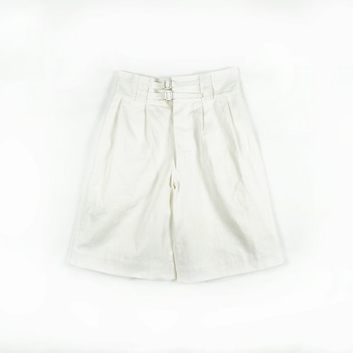 Luddite Original Cotton High Waist Gurkha Pants -  Pure White