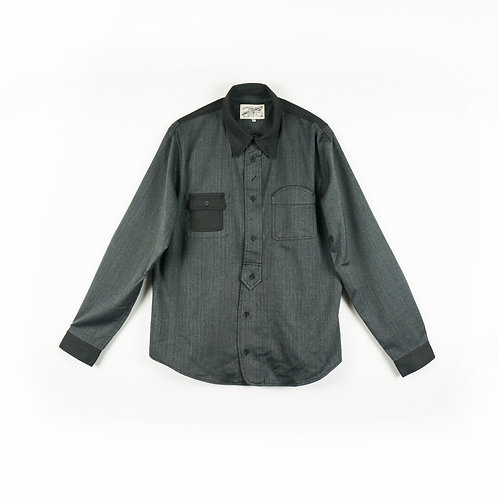 Luddite Original HBT Cotton Worker Shirt - Grey
