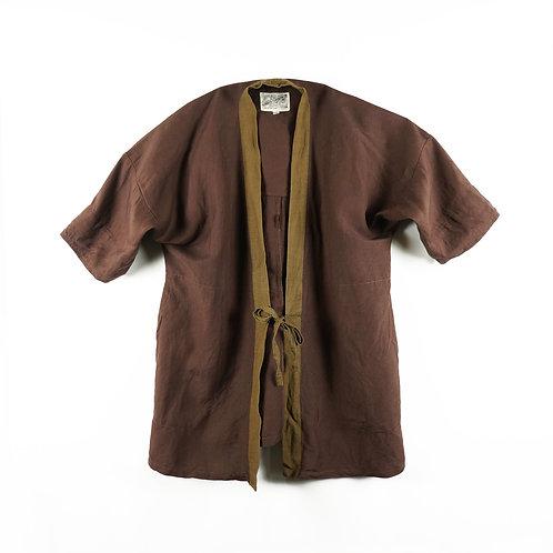 Luddite Linen Cotton Happi - Brown