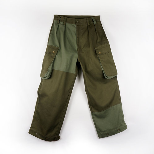 Luddite Original Army Patched Cotton Fatigue Pants ( High Waist Loose Cut)