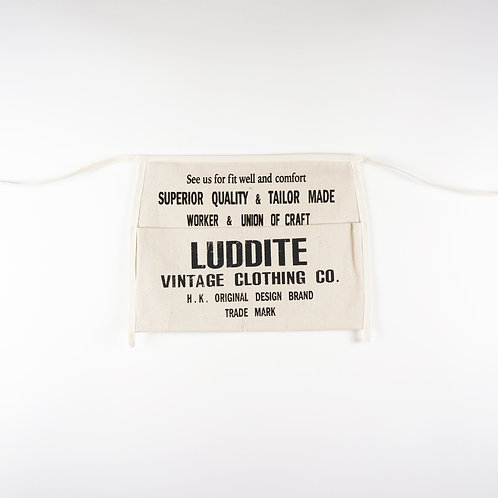 "Luddite ""Oath of Worker"" Worker Apron Bag"