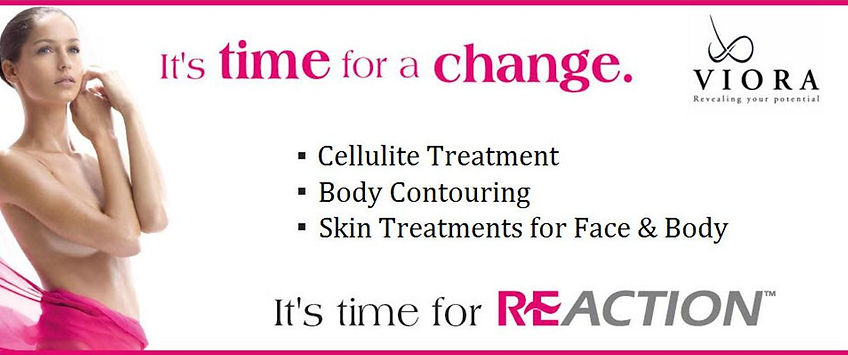 Viora, REACTION, RELIFT, REFIT, REVIVE, cellulite treatment. body contouring, skin treatments for face and body, Vancouver, Burnaby, before and after