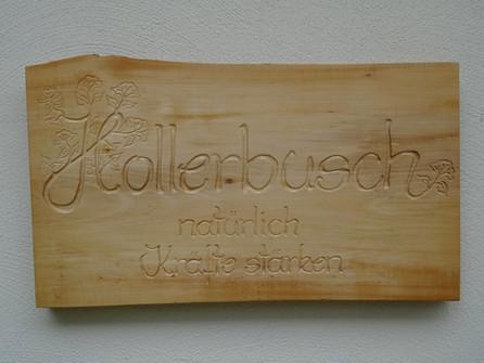 Hollerbusch auf Holz
