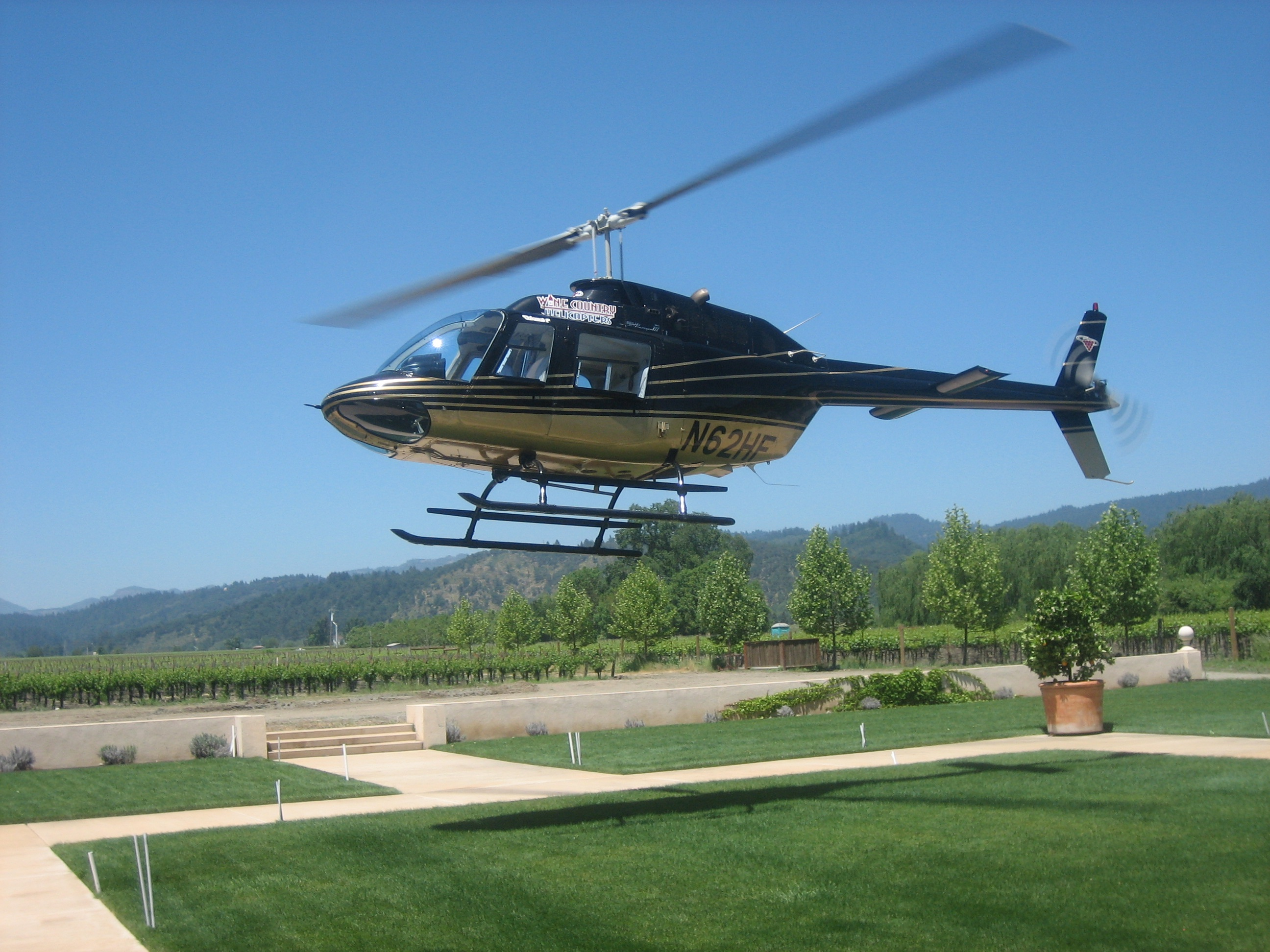 Napa Helicopter Landing