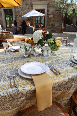 Wedding table setting family style