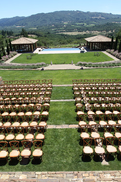 Ceremony chairs bird's eye view