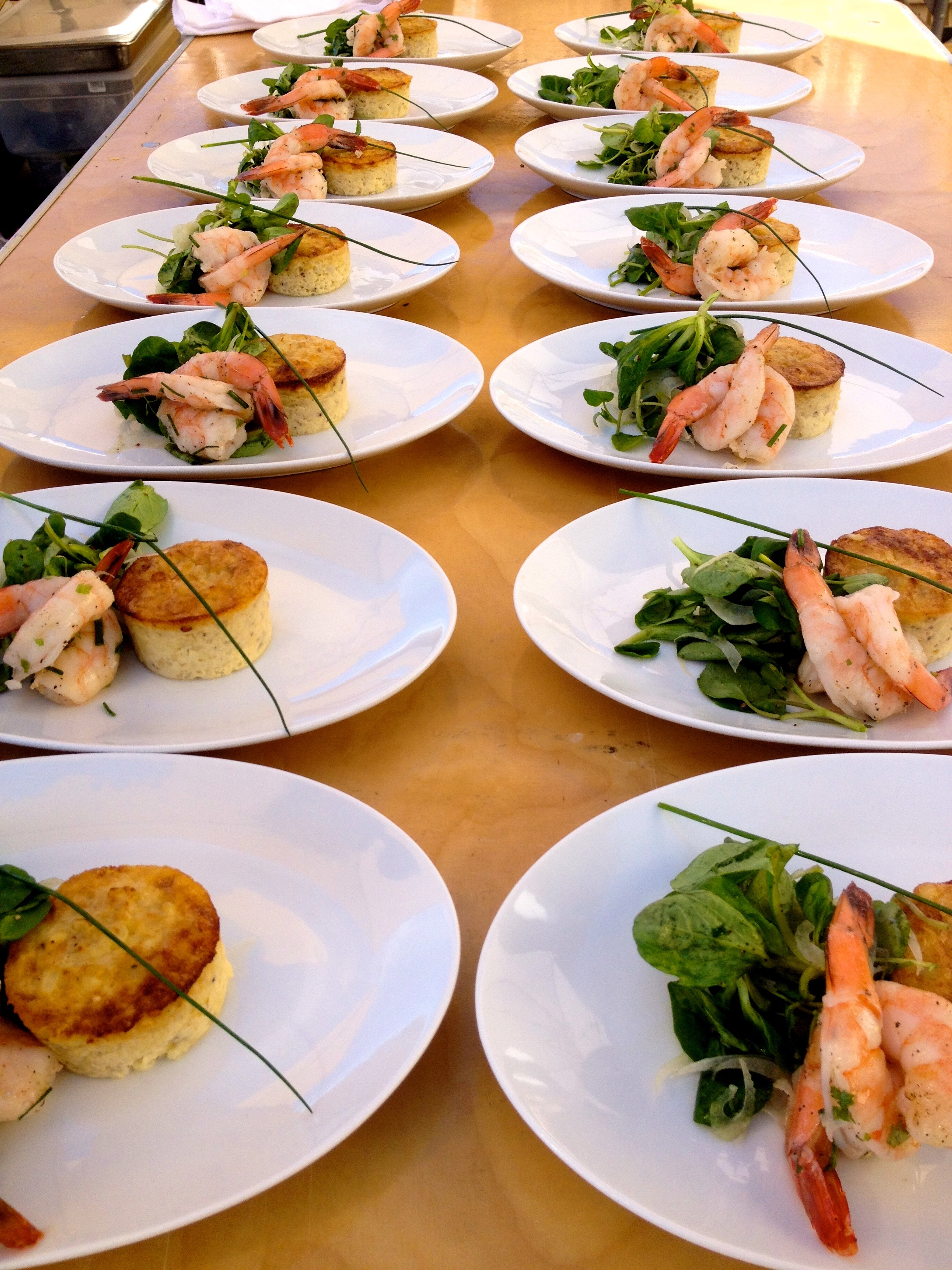 Flanagan Winery Shrimp Salad Plates