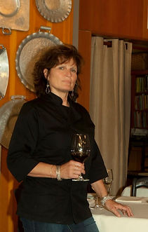 Catherine Venturini Burdick at Olive & Vine Restarant Glen Ellen Sonoma County