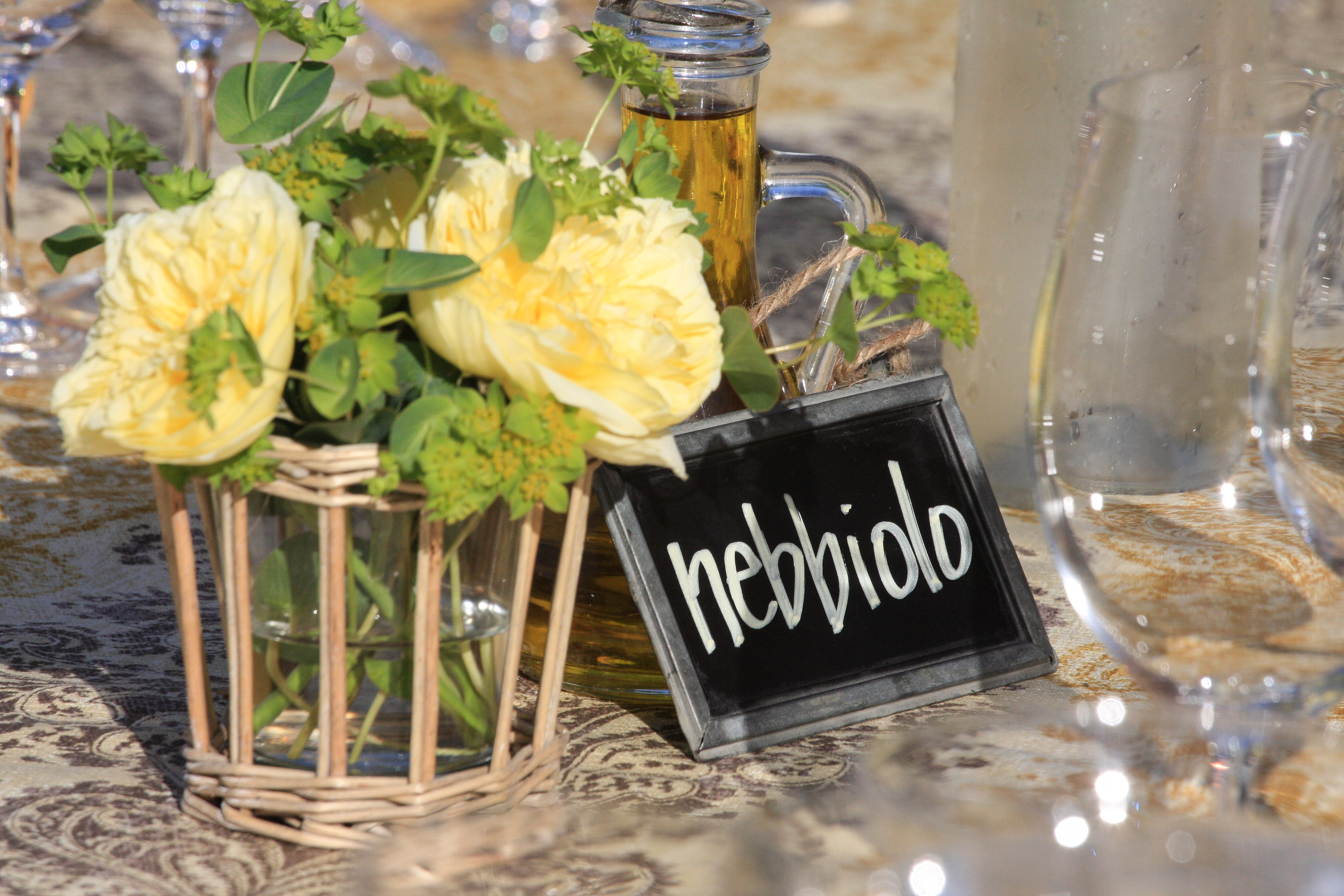 Wine varietal table names