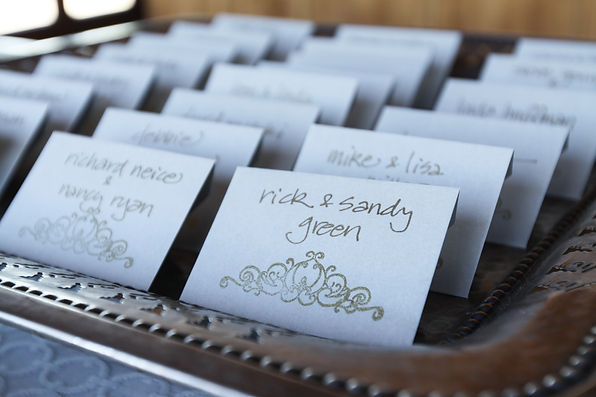 Handwritten wedding escort cards