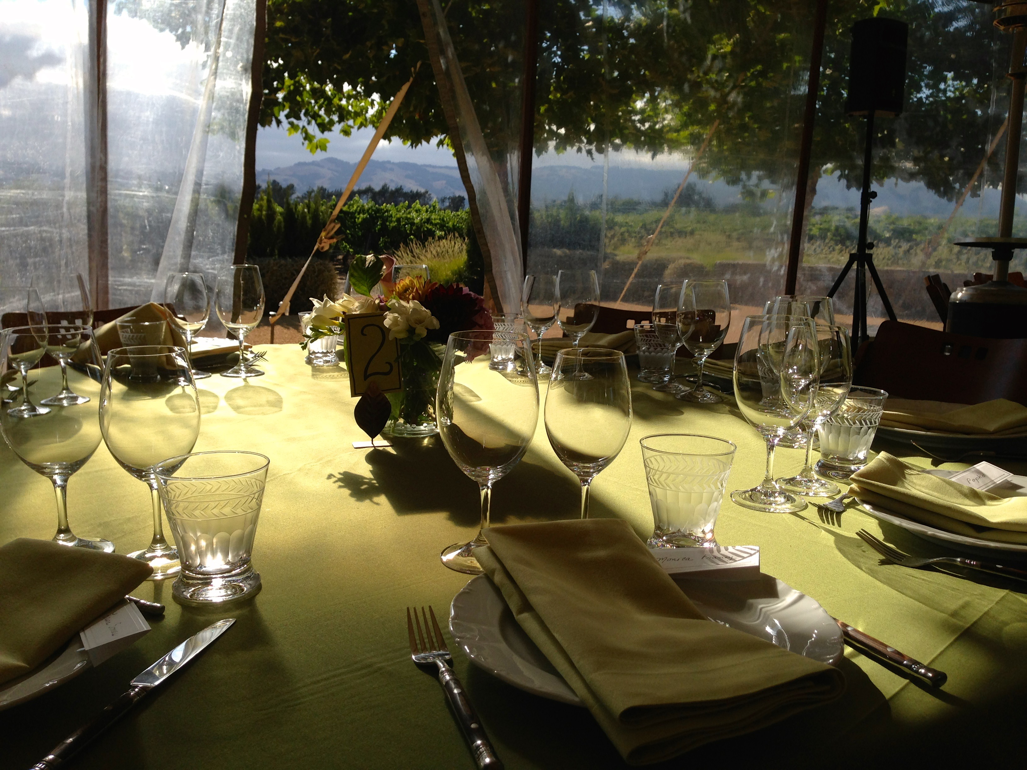 Sangiacomo Winery Sunlit Tent