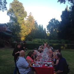 Muscardini Winemaker Dinner Table