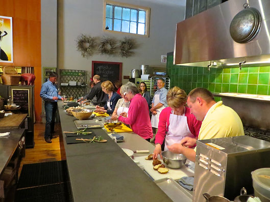 Private corporate cooking class in Sonoma