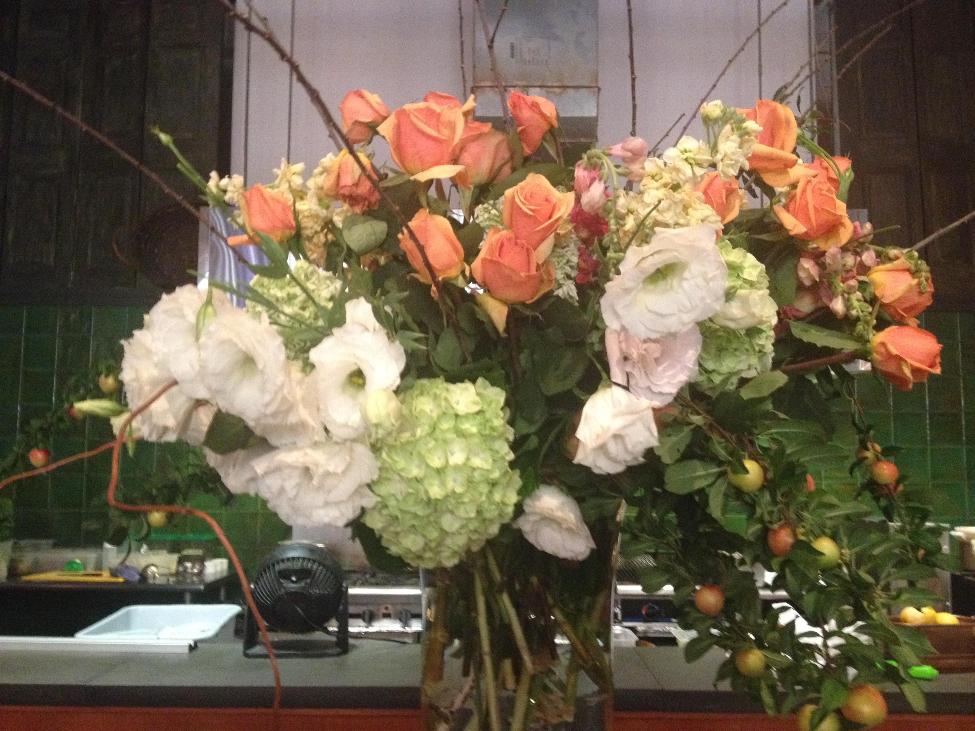Flower arrangement done in house