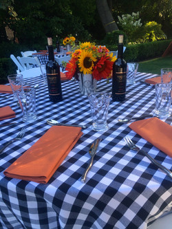 Hughes BBQ Table setting