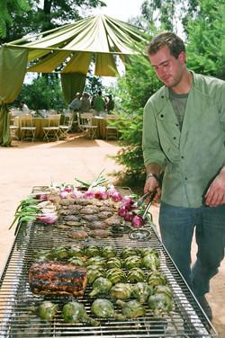 Fritz Birthday Chef Grilling Veggies