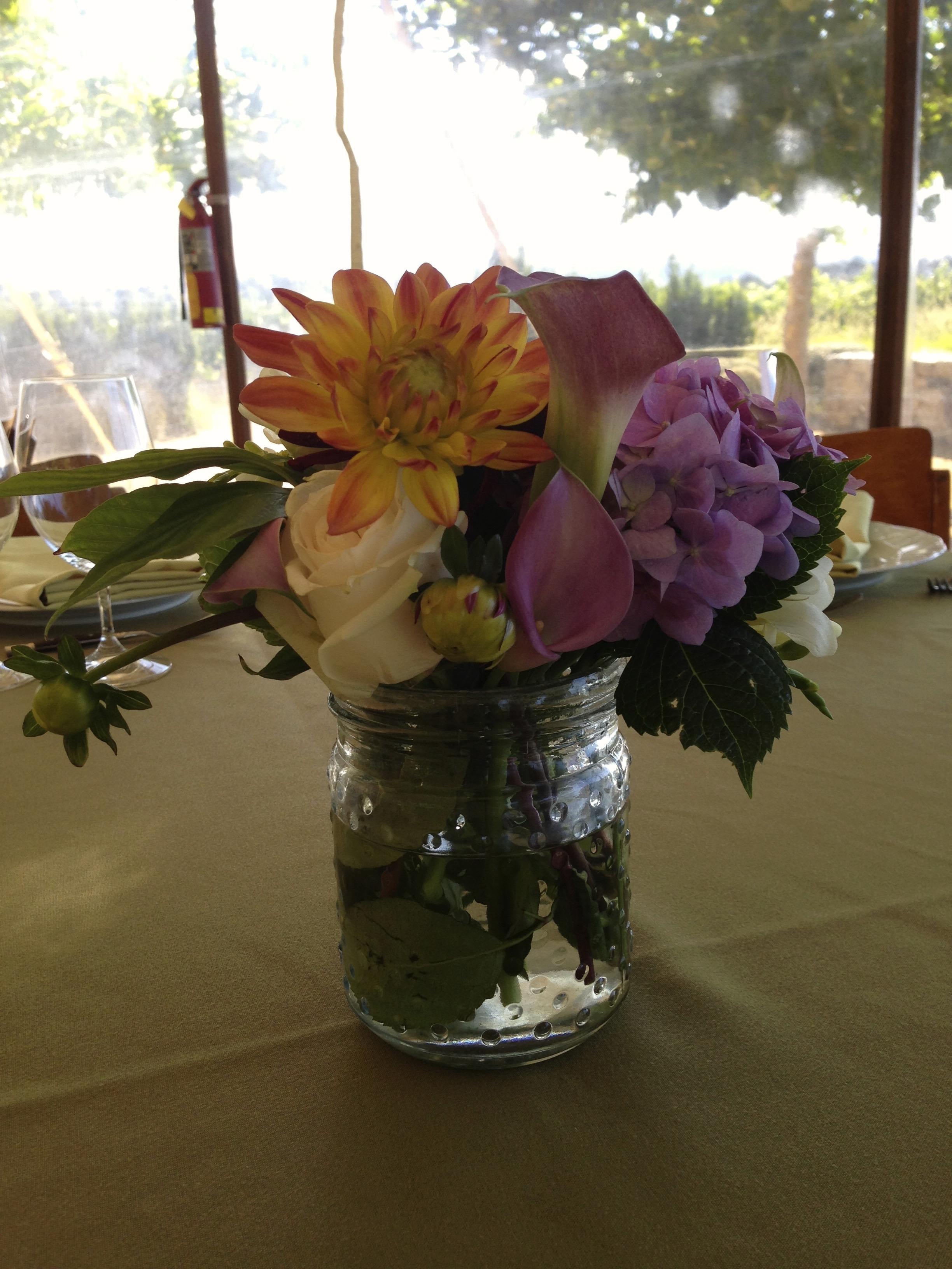 Sangiacomo Winery Custom Flowers