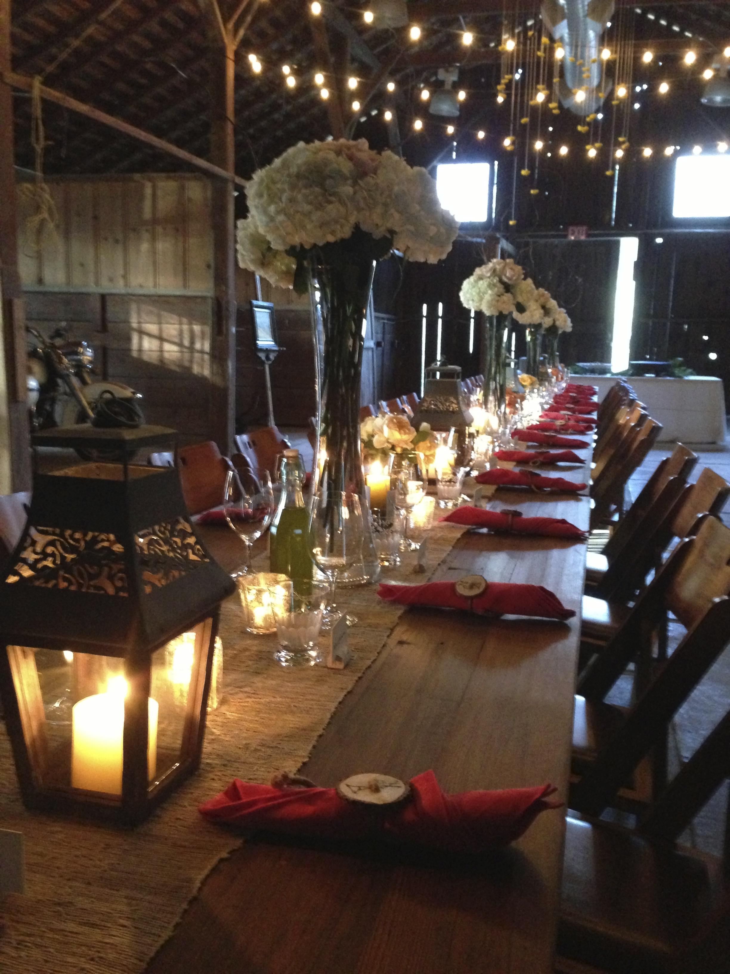 Barn dinner at Annadel Estate Winery