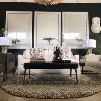 living room african safari