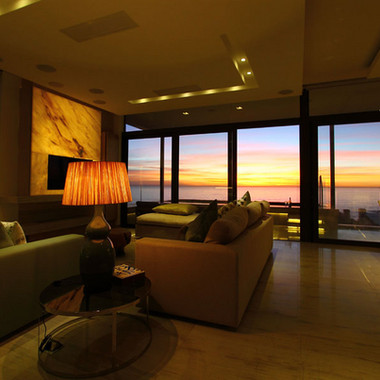 sunset living room