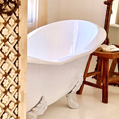 Ball and Claw bath African Inspired