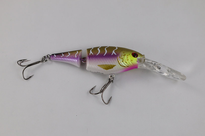 Berkley Flicker Shad Jointed Purple Tiger