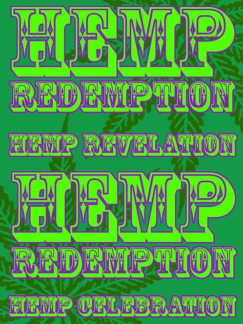'Hemp Redemption' mantra print