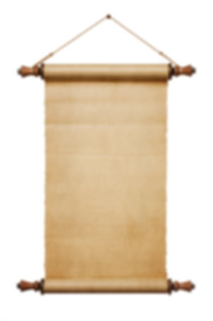 Vintage blank paper scroll isolated on w