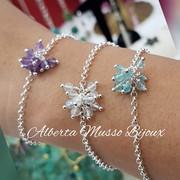 Bracelets mini soleil argent 925, gemmes naturelles
