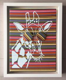 tableau girafe lunettes