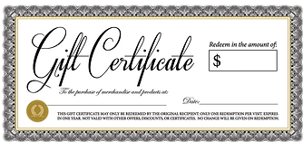 Gift Certificate - Vector-Ornate-Vintage