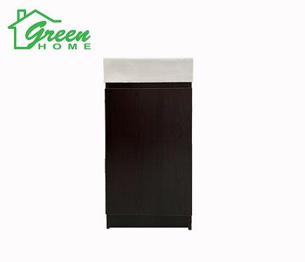 Floor Standing Vanity With White Ceramic Basin W400 Dark Walnut