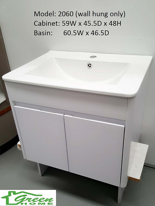 600mm slim vanity (wall hung only)