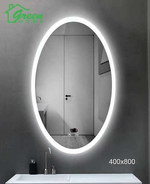 Oval LED Mirror With Demister W400 X H800