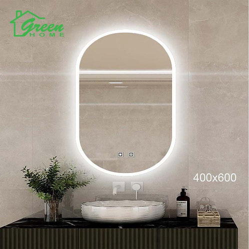 Oval LED Mirror With Demister W400 X H600