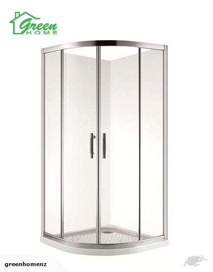 900mm Curved shower glass