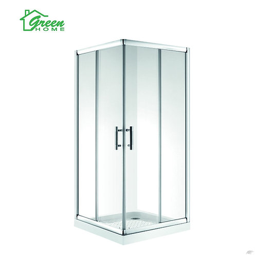 1000mm Square Double Slide Door Shower Box
