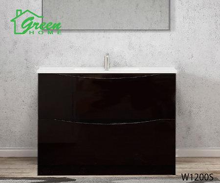 Double Drawers Floor Standing Vanity 1200S - Single Basin -Dark Brown