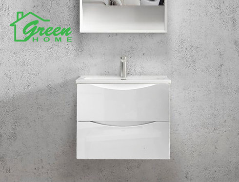 Double Drawers Wall-hung Vanity 600 - White