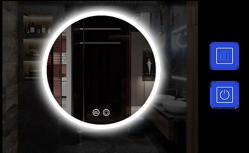 Round LED Mirror Demister 600/700/800