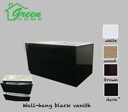 Black Vanity 1200mm wide single basin (wall hung)