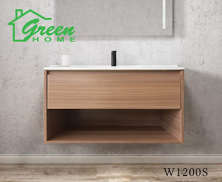 GHLYG - Wall-hung Plywood Vanity With Ceramic Basin 1200 - Light Oak Col
